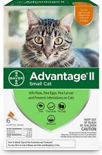 Bayer Advantage Ii For Small Cats 5-9 lbs (6 Pack) Comes w/Box 100% Genuine