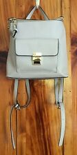 Steve Madden Backpack Purse Faux Leather - Gray
