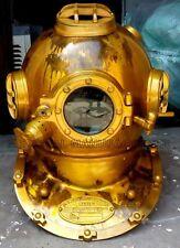 US Navy Diving Helmet Mark V Deep Sea Divers Helmet Vintage Replica Antique Best