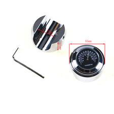"7/8"" 1"" Motorcycle Handlebar Dial Clock Temp Glow Watch Harley Honda Black US NE"