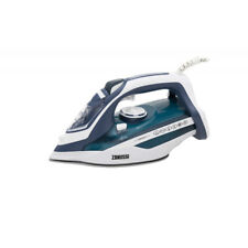 More details for zanussi iron dry & steam iron ceramic soleplate 2800 w blue white