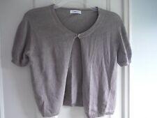 Calvin Klein Shrug Open Cardigan Shell, Woven Cotton Short-sleeve, size S/M new!