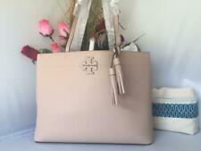 AUTH NWT TORY BURCH McGraw Devon Sand Pebbled Leather Tote Shoulder Bag