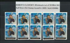 Roberto Clemente USA #3408j Mint NH WHOLESALE LOT of 10 Singles issued in 2000