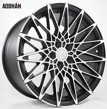 19X8.5/19X9.5 AodHan LS001 5X120 +15 Black Rims Fits Bmw 528 535 550 (2006-2010)