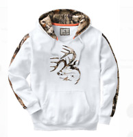 Legendary Whtietails Hunting Camping Fishing Hiking Antler White Pullover Hoodie