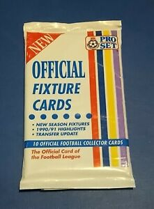 1990/1991 PRO SET OFFICIAL FOOTBALL LEAGUE FIXTURE CARDS BRAND NEW PACK OF 10 PS