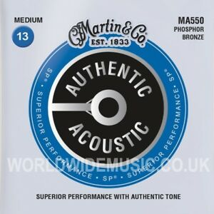 Martin MA550 Acoustic Guitar Strings Phosphor Bronze Medium Gauge 013 - 056