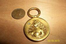 Fabulous Antique C 1900 Art Nouveau 17k Gold Cameo Diamond Slider fob pendant