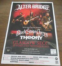 Alter Bridge - live music show Nov 2011 promotional tour concert gig poster