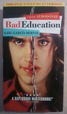 Bad Education - Original Uncut NC-17 Version - VHS - Gael Bernal - Almodovar
