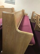 21 Solid Oak Wood Church Pews With Pads - 16 Ft Long Each - $2500 obo