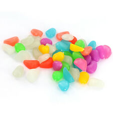 50x Glow in Dark Pebbles Stones Luminous Garden Aquarium Fish Tank Decoration