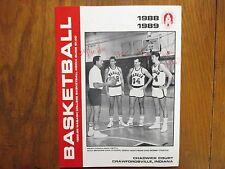 1988 Wabash College Men's Basketball Media Guide(29 Signed/MAC PETTY/MAX SERVIES