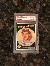 1959 Topps Sparky Anderson Philadelphia Phillies #338 Baseball Card PSA 8