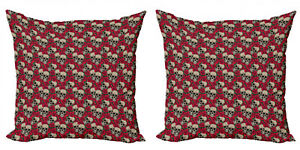 Ambesonne Rose Cushion Cover Set of 2 for Couch and Bed in 4 Sizes