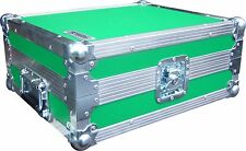Technics SL1210 Turntable DJ Deck Swan Flight Case (Green Rigid PVC)