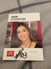 RIZ LATEEF (BBC LONDON) SIGNED CAST CARD