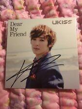 U-kiss Kevin Dear My Friend Autographed Signed Official Photocard Card Kpop