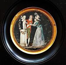 (B165) Miniatur Bildnis, allegorische Dastellung, Frankreich vor 1800