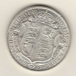 1927 GEORGE V HALF CROWN IN EXTREMELY FINE CONDITION