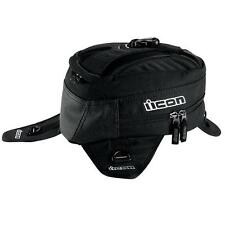 Icon Primer Magnetic Motorcycle Tank Bag / Backpack Black