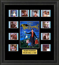 Mary Poppins Framed Film Cell Memorabilia , Julie Andrews , Dick Van Dyke