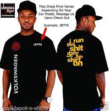 Custom Shirt for VOLKSWAGEN Car Owners Passat Jetta GLX SE PZEV TDI GLI GTI etc.