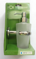 Metaform porta dispenser porta sapone bagno da parete in ottone vetro EOS 786