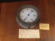 Antique Vintage Steamboat Riverboat Steam Gauge S.S. Sabino c. 1924 Steampunk