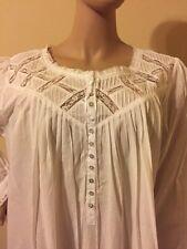 Eileen west nightgown  Nightgown  100% Cotton lawn XLarge  White Gorgeous