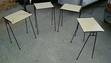 Mid Century Iron  Hairpin Design Nesting Stacking Tables ala  George Nelson