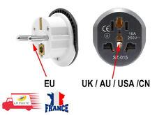 Adaptateur Secteur Voyage Prise AU US UK CN Vers EU Universel Europe France 16A