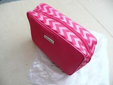 Authentic Shiseido Makeup / Toiletry Bag, Red with Red and Pink Zig Zag Design