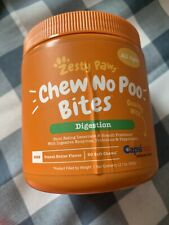 """Zesty Paws """"Chews No Poo"""""""" Bites Digestion All Ages Count 90"""