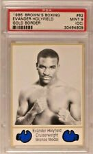 EVANDER HOLYFIELD RC 1986 BROWNS BOXING #62 ROOKIE PSA 9 MINT