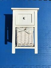 Bathroom Storage Cabinet / Small Wooden Bathroom Drawer & Basket