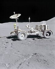 Lunar Roving Vehicle moon buggy on the Moon during Apollo 15 mission Photo Print