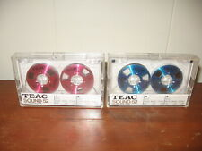 TEAC Sound 52 Cassette Audio Tape Bias/Normal 120 LOT OF 2 one Red one Blue