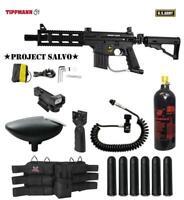 Tippmann US Army Project Salvo Tactical Red Dot Paintball Gun Package