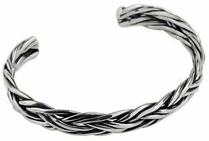 SILBERMOOS Men's Bangle Bracelet Jewelry Bangle 925 Sterling Silver