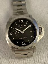 Panerai Luminor 1950 3 Days GMT Automatic Black Dial Steel Men's Watch PAM 00329