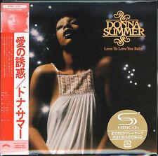 DONNA SUMMER-LOVE TO LOVE YOU BABY-JAPAN MINI LP SHM-CD Ltd/Ed G00