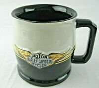 Harley Davidson Winged Bar Shield Raised Logo Ceramic 16 0z. Coffee Mug Cup