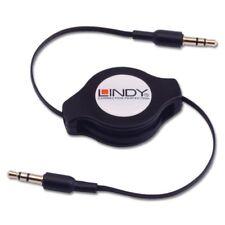 Lindy Retráctil 3.5mm Estéreo Jack Macho a Macho Cable Jack Estéreo 3.5mm, 1.10m