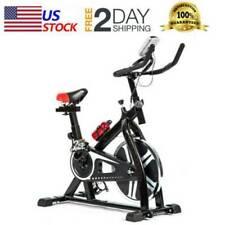 Exercise Bike Indoor Cycling Bike W/LCD Display Stationary Bike Cardio Workout