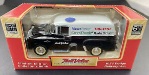 True Value 1957 Dodge Delivery Van Limited Edition Collectors Bank Die Cast Meta
