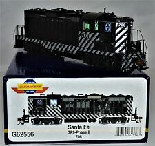 "Athearn-Genesis #G-62556 Santa Fe GP-9 Phase II #706 ""Zebra Stripes"" DCC Ready"