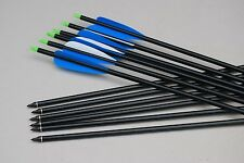 """12) 30"""" GP archery Aluminum completed arrow 350 SP for up to 70 lb compound bow"""