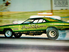 1968 DODGE CHARGER FUNNY CAR VINTAGE/ORIGINAL PAGE *rt/426 Hemi v8/emblem/wheels